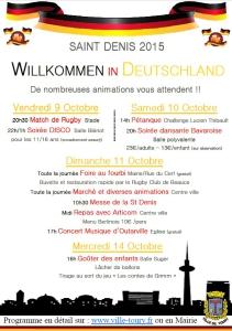 Programme complet de la Saint Denis 2015
