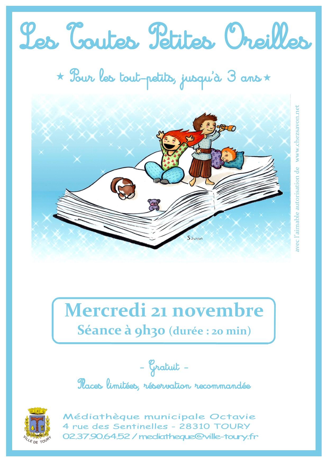 Affiche Toutes Petites Oreilles - novembre