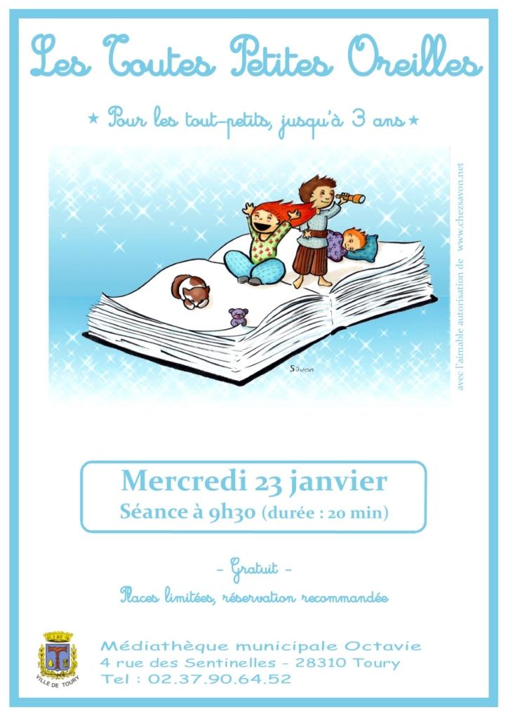 Affiche Toutes Petites Oreilles-Janvier2019