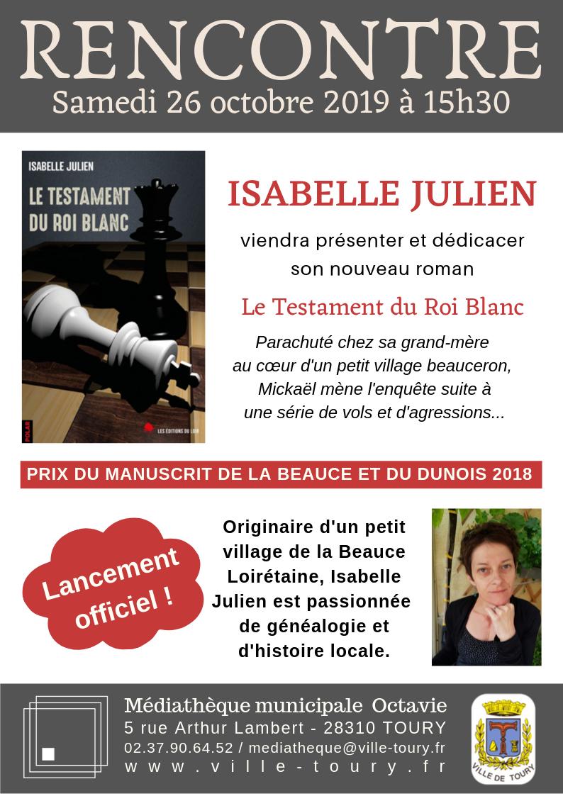 Rencontre Isabelle Julien - octobre 2019